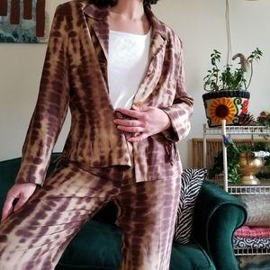 Amelia Austin Silk Tie Dye Suit